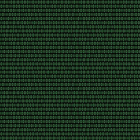 Seamless (you see 4 tiles) binary code retro green and black abstract pattern background