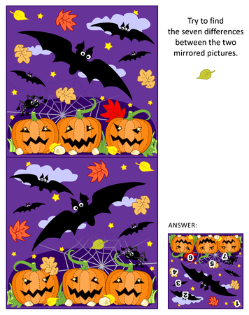 Halloween themed visual puzzle Illustration