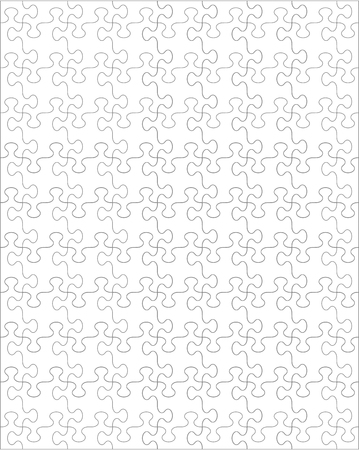Jigsaw puzzle blank template or cutting guidelines with whimsically shaped pieces and ratio 4 to 5, vertical orientation. For vector mode pieces are easy to separate (every piece is a single shape) and transparent.