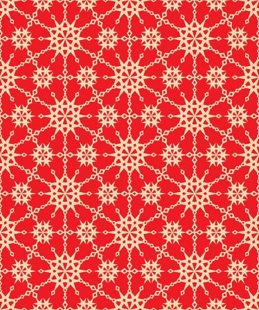 Seamless (you see 8 tiles) elegant red and gold abstract holiday pattern, print, wallpaper, swatch, texture, or background Illustration