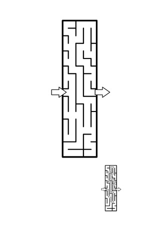 Alphabet  learning fun and educational activity for kids - letter I maze game. Answer included.
