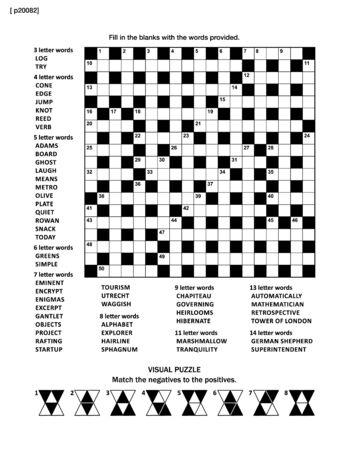 Puzzle-Seite mit zwei Puzzles: 19x19 criss-cross (kriss-kross, füllen Sie die Lücken) Kreuzworträtsel Wortspiel (englische Sprache) und abstrakte visuelle Puzzle. Schwarzweiß, A4 oder Letter. Vektorgrafik