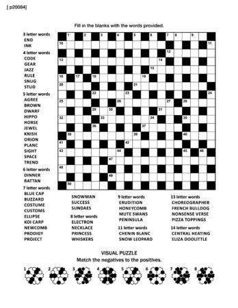 Kreuzworträtsel und abstrakte visuelle Illustration Vektorgrafik