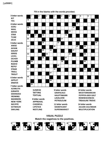 Crossword and abstract visual game illustration. Illustration