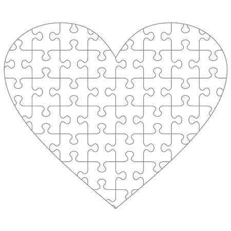 Jigsaw Puzzle Blank Template Or Cutting Guidelines Of  Transparent