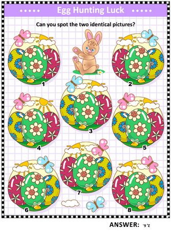Easter holiday egg image illustration