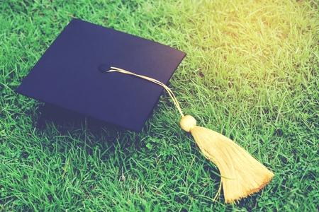 graduation,Student hold hats in hand during commencement success graduates of the university,Concept education congratulation.Graduation Ceremony,Congratulated the graduates in University. Stok Fotoğraf