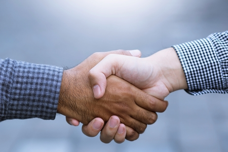 Business Shaking hands greetings