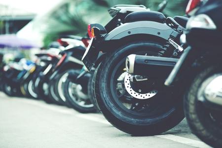 Motorcycle parking Stock fotó