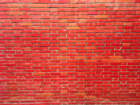 empty brick wall texture painted red pastel background vintage interior design.