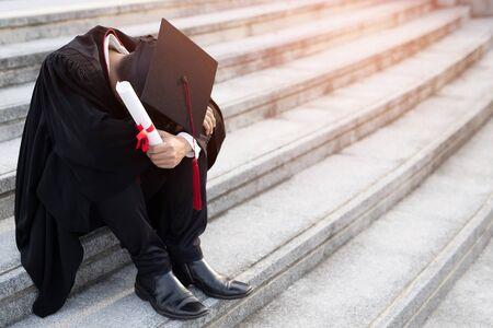 Graduate students do not have a job. Foto de archivo