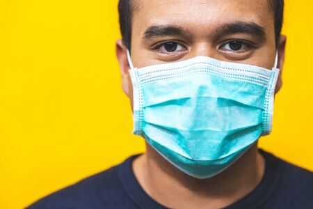 Man is wearing masks to protect against Corona virus