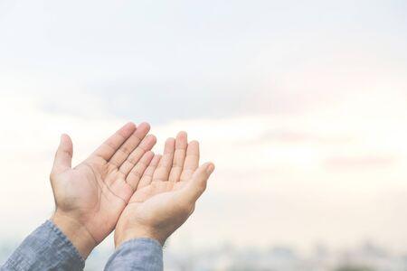 A man praying for a god Фото со стока