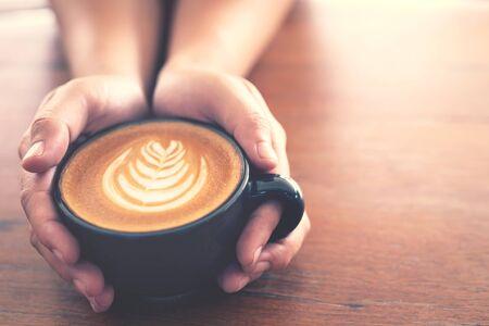 Hot coffee in a cafe Фото со стока