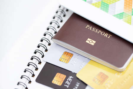 Passport and credit card for foreign tourists