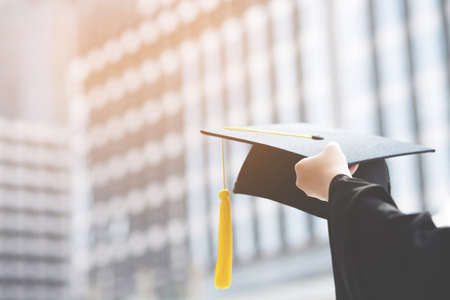 Congratulate the new graduates for the country's future, smooth the job. Stock fotó