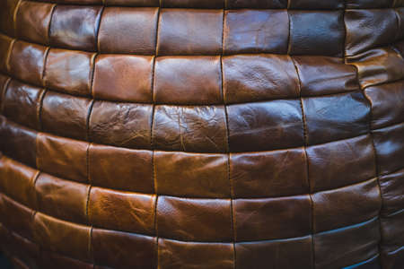 Beautiful vintage leather furniture Stock Photo