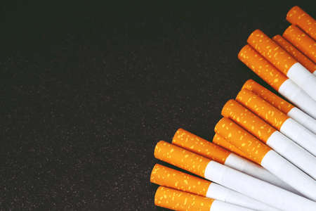 Close-up of Tobacco Cigarettes Background or texture 版權商用圖片