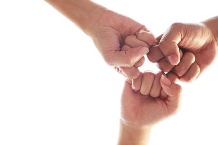 Group of Business Teamwork joining hands team spirit Collaboration group support teamwork agreement concept