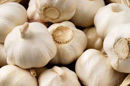Garlic is ready to cook in the kitchen.