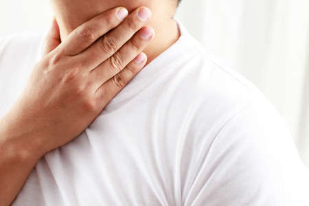 Man neck pain  from flu