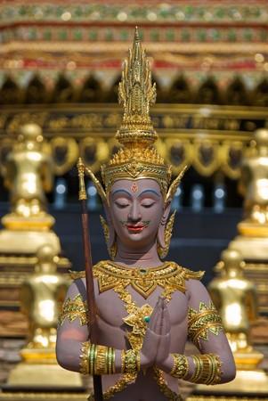 deity: statue guardian deity in buddhism temple