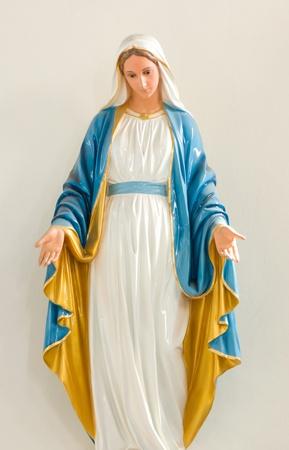 statue of saint Mary in Asanawihan Maephrabangkerd(The Church of the Virgin Mary) at Bang Nok Kwaek sub-district,Samut Songkhram province Thailand