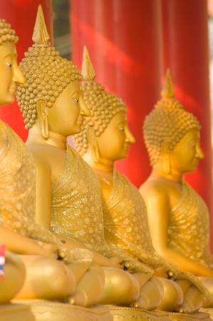 image of buddha in Thai temple at Ratchaburi province Thailand photo
