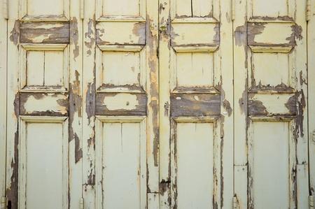 old and broken  wooden door  photo