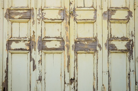old and broken  wooden door  photo