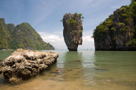 James bond island ro Khao Tapu at Phang Nga province South of Thailand photo