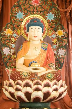 image of  chinese buddha at Chinese temple Phetchaburi province Thailand photo