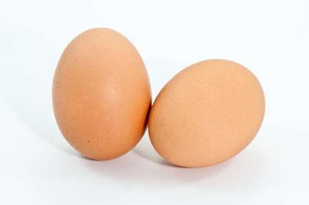 ingradient:  eggs on white background Stock Photo