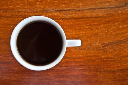 coffee on wooden background photo