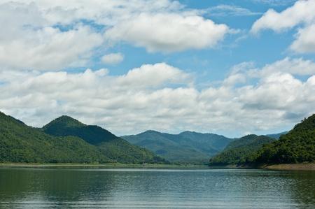 clound: landscape clound ,blue sky,mountain,and lake