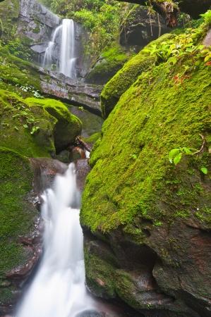 Sai Tip waterfall in rainforest at Phu Soi Dao national park,Uttaradit provinceThailand photo