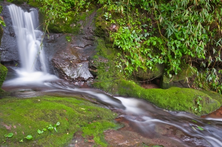 Sai Tip waterfall in rainforest at Phu Soi Dao national park,Uttaradit provinceThailand photo