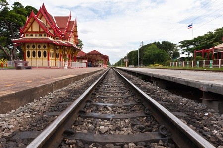 Hua Hin railway station,Prachuap Khiri Khan province Thailand photo