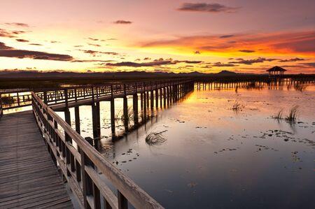 pavillion: sunset at Sam roi Yod national park,Prachuap Khiri Khan province Thailand