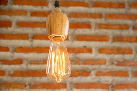 electric bulb: Electric light bulb in cafe
