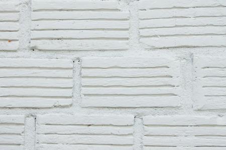 thialand: the white brick wall texture in , Chiangmai , Thialand