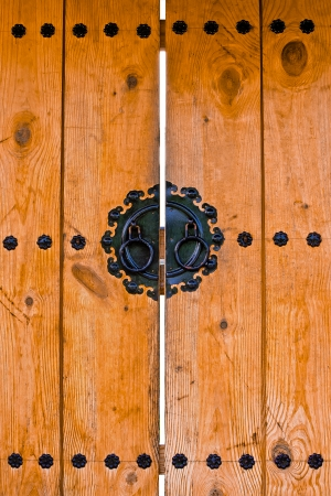 Vintage wooden door korean style photo