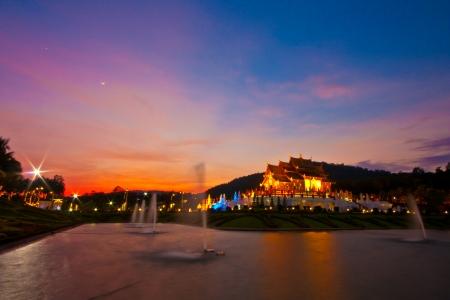 royal park: Royal Park Rajapruek on the sunset  Chiang Mai, Thailand Editorial