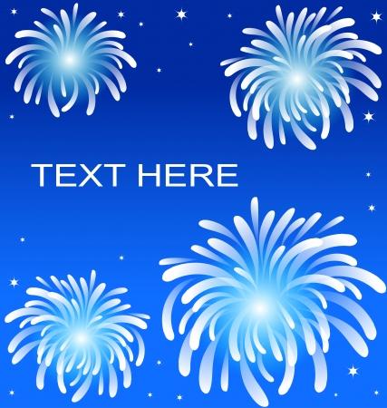 star trail: Fire work on blue backgroun Illustration