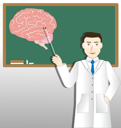 ser humano: Médico Neurología y tablero verde