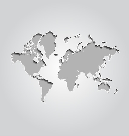 World map on gray background royalty free cliparts vectors and world map on gray background stock vector 29911808 sciox Gallery