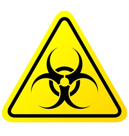riesgo biologico: Signo Virus sobre fondo blanco Vectores