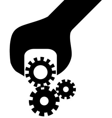 Cogwheel in screwdriver
