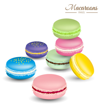 meringue: Tasty colorful french macaroons