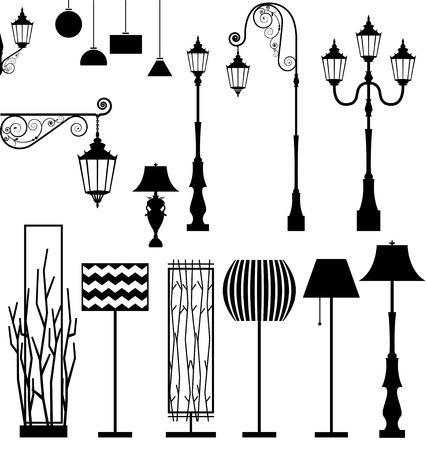 streetlight: Vintage and modern  lamp set